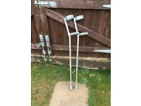 CRUTCH CRUTCHES ADJUSTABLE ALUMINIUM STYLE GOOD CONDITION ONE CAREFUL OWNER! £10