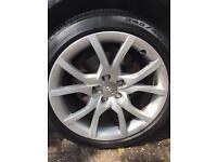 X4 Audi 18 inch original alloy wheels 245/40 R18