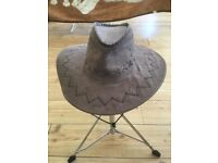 COWBOY HAT FAUX SUEDE WILD WEST FANCY DRESS COSTUME ADULTS MENS LADIES COWGIRL