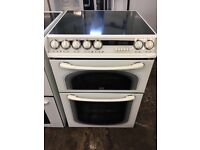 Creda Concept 60cm Double Electric Cooker in White #3883