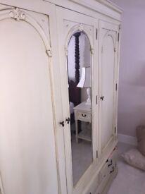 Shabby Chic Beautiful Bedroom Wardrobe (very large)