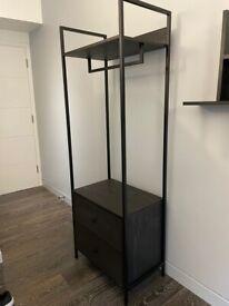 Set of two modern wardrobes/shelving