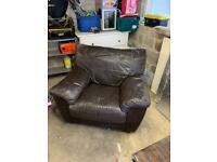 Free Brown Leather Style Armchair