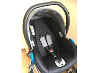 Venicci car seat and chassis/pushchair