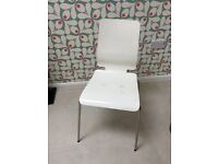 6 white Ikea dining chairs