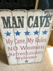 Man cave sign / picture