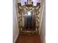 Gold shabbie sheet Italian mirror
