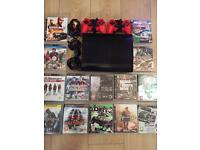 Playstation 3 Super Slimline 500gb Bundle 14 Games 2 Pads All Leads Excellent Condition