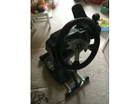 Logitech G25 wheel (with pedals and shifter) mounted on Wheel Stand Pro
