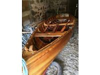 14ft wooden gaff rigged sailing boat