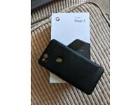 Google Pixel 2, black in box with case