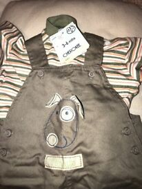 Dungaree set for 3-6 months
