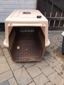 Large dog airline travel crate cage