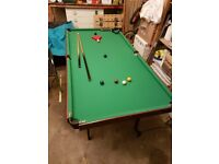 6' Snooker or Pool Table, good condition
