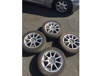 205 55 R16 16inch rims alloy wheels - 9 spoke alloys - very good tyre thread