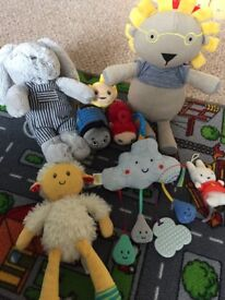 Selection of baby toys and books