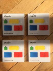 4 x Chipolo Classics. (Bluetooth Key finder)