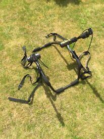 Adjustable double bike rack