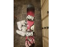Women's Snowboard, Boots & Bindings. Available Individually Or Together. 5150/DC brands