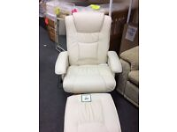 Brand new heat and massage chair with footstool