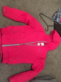Girls bright pink O'neill Ski jacket