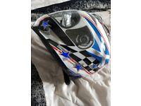 Scotland motorbike helmet