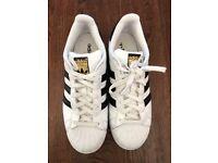 Adidas original Superstar white/Black UK size 8 trainers