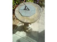 "Vintage ""Time Flies"" Stone Sundial"