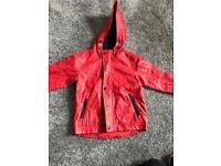 Lovely red waterproof coat.