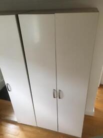 Free standing wardrobe in cream colour