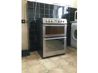 Stoves electric freestanding double oven cooker with ceramic/halogen hob