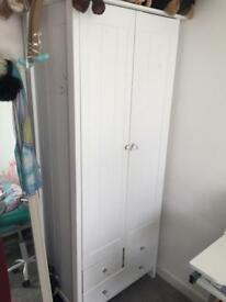 Children's or adult small white wardrobe