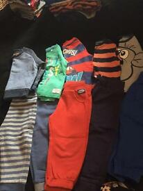 Boys 12/18 months tops & joggers used good condition