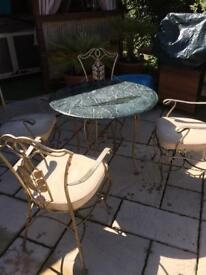 Cast iron table chair