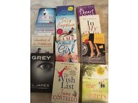 Selection of chick lit books