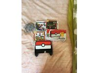 Pokemon Nintendo 2 DS XL case and games