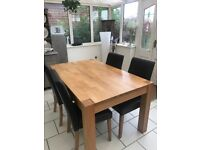 4- 6 Seater Dining Table and Chairs