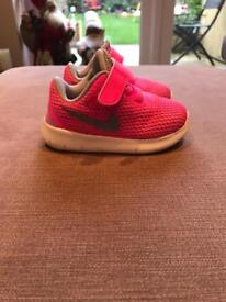 Nike pink Velcro trainers