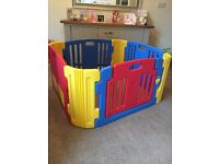 Little Playzone Playpen with Electronic Lights & Sounds Play Yard, 8 Piece