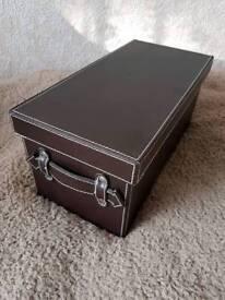 Brown flux cd storage boxes
