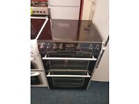 BELLING 60CM CEROMIC TOP ELECTRIC COOKER IN BLACK. D