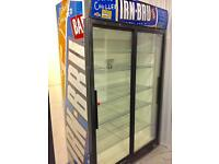 Shop fridge commercial chiller bottle Cooler retail display glass slide door