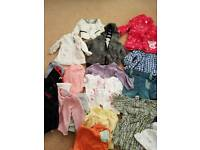 Budle of girls clothes 3-6 months