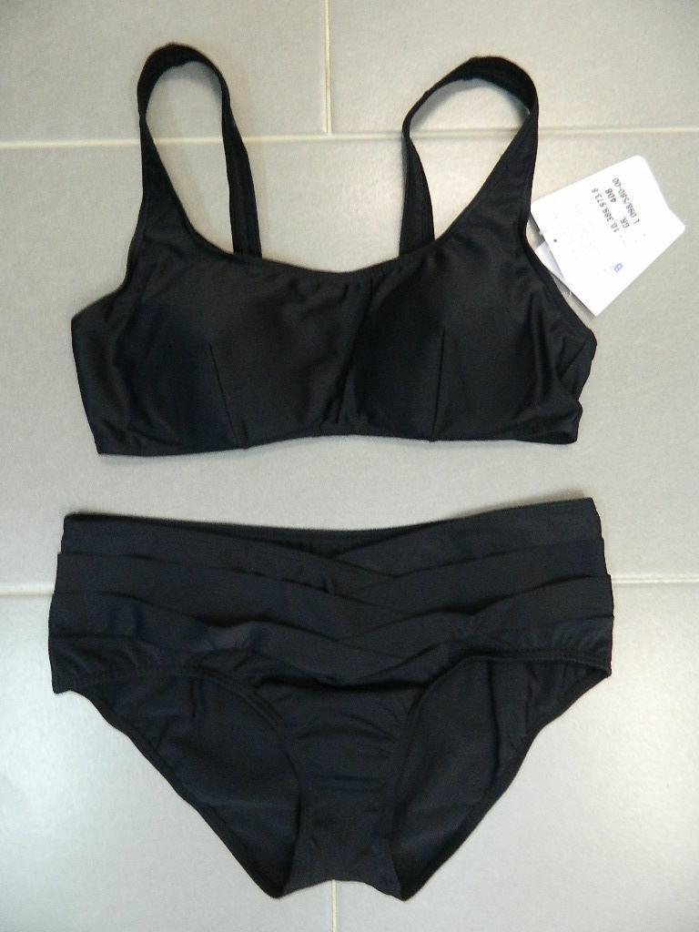 Damen Bikini /Sportbikini Gr.40 Cup B Schwarz