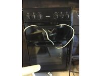Bush black double oven and grill cooker