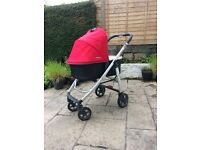 Uppababy Cruz Pushchair AND Carrycot Denny Red 2015