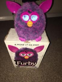 Purple and pink Furby interactive toy by Hasbro