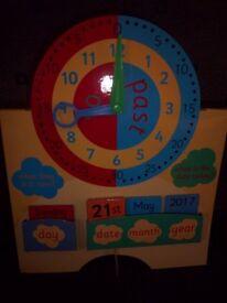 ELC Teach Time & Days / Date Board IP1