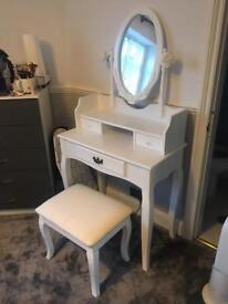 Dressing table and seat for sale