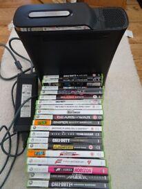 X Box 360 120GB plus 19 Games